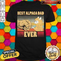 Best Alpaca Dad Ever Vintage Retro Shirt