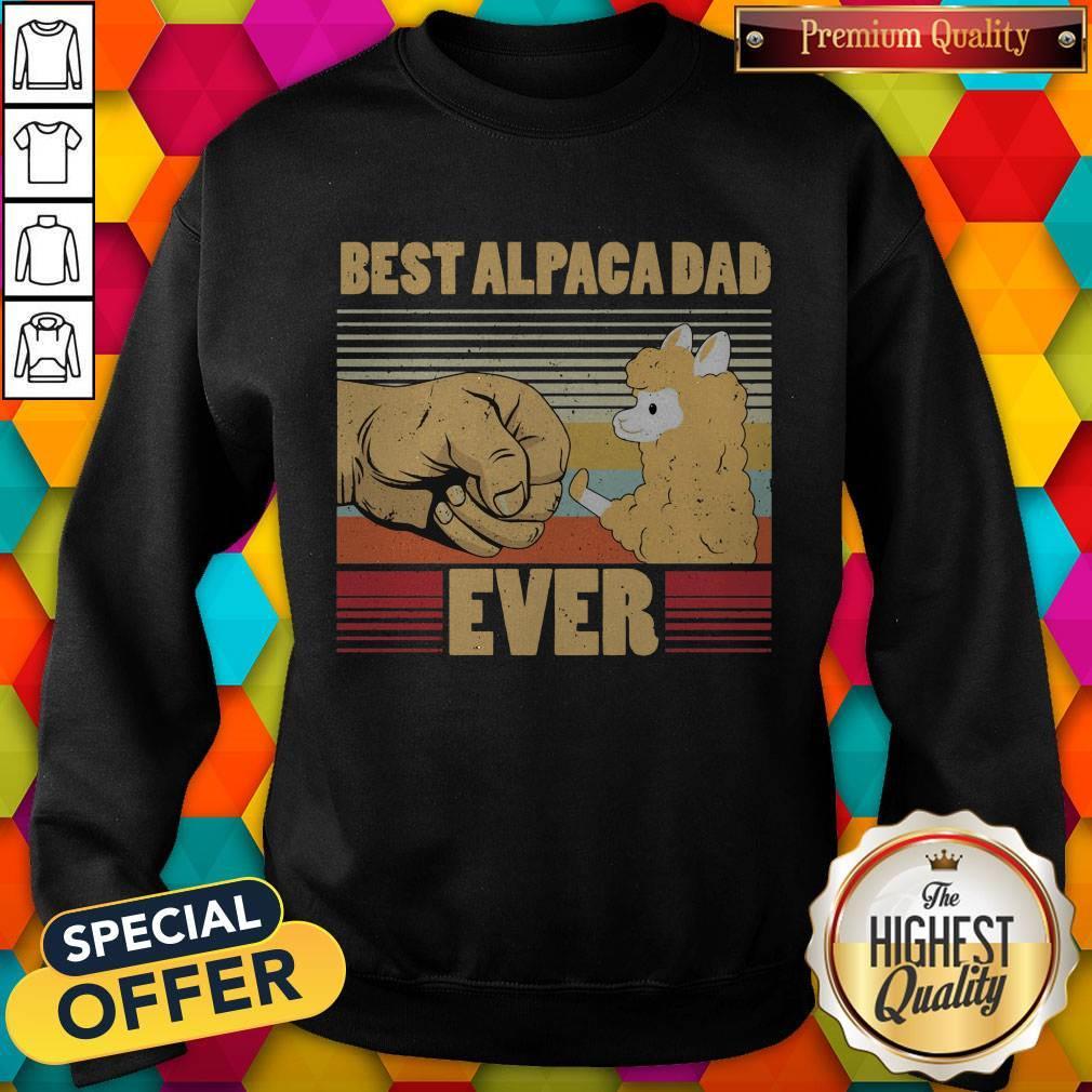 Best Alpaca Dad Ever Vintage Retro Sweatshirt