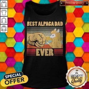 Best Alpaca Dad Ever Vintage Retro Tank Top