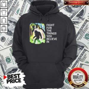 Bigfoot Fight For The Things You Believe In Hoodiea