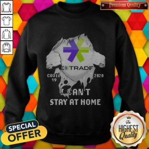 Blood Inside Me E-Trade Covid 19 2020 I Can't Stay At Home Sweatshirt