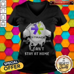 Blood Inside Me E-Trade Covid 19 2020 I Can't Stay At Home V- neck