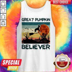 Boston Terrier Great Pumpkin Believer Vintage Tank Top