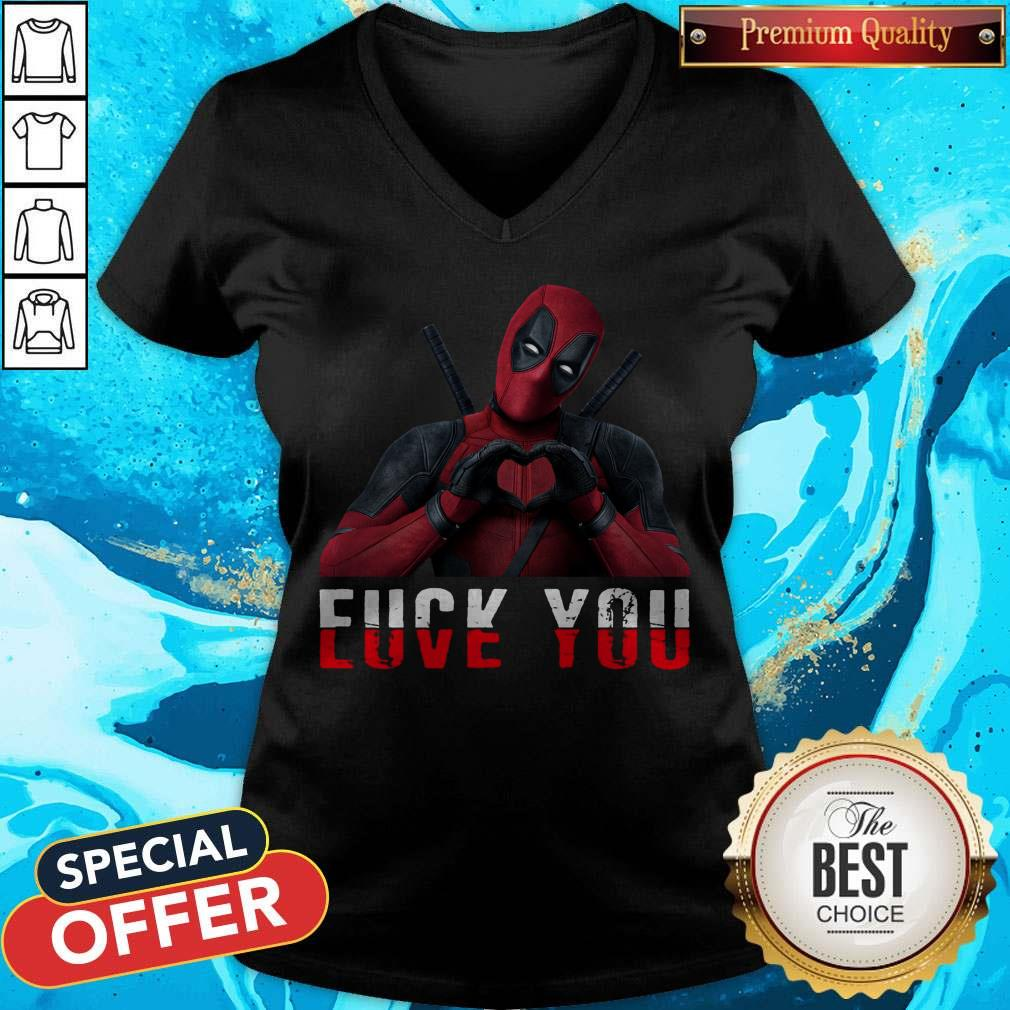 Deadpool Fuck You Love You V- neck