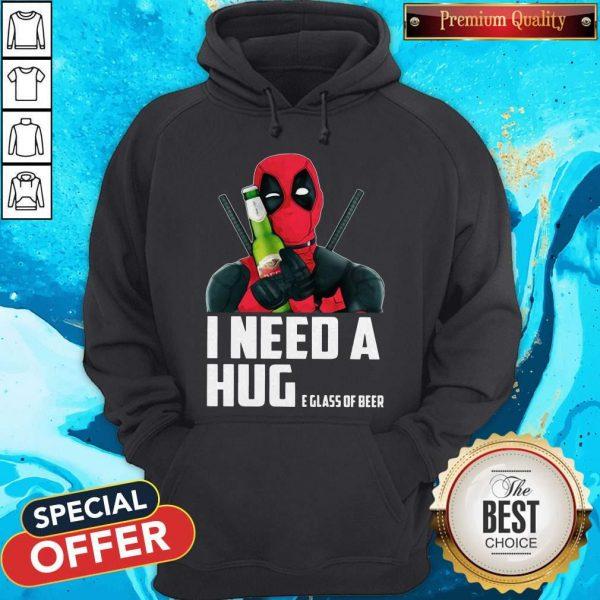 Deadpool I Need A Huge Glass Of Beer Hoodie