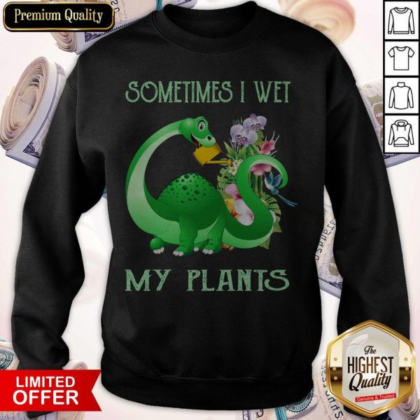 Dinosaur Sometimes I Wet My Plants Sweatshirt