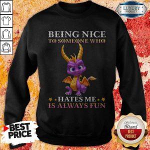 Dragon Being Nice To Someone Who Hates Me Is Always Fun Sweatshirt