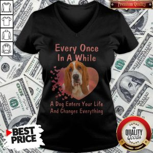 Every Once In A While A Dog Enters Your Everything V- neck