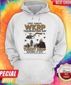 First Annual Wkrp Thanksgiving Day Turkey Drop November 22 1978 Hoodiea