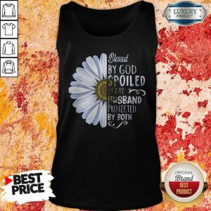 Flower Blessed By God Spoiled By My Husband Protected By Both Tank Top