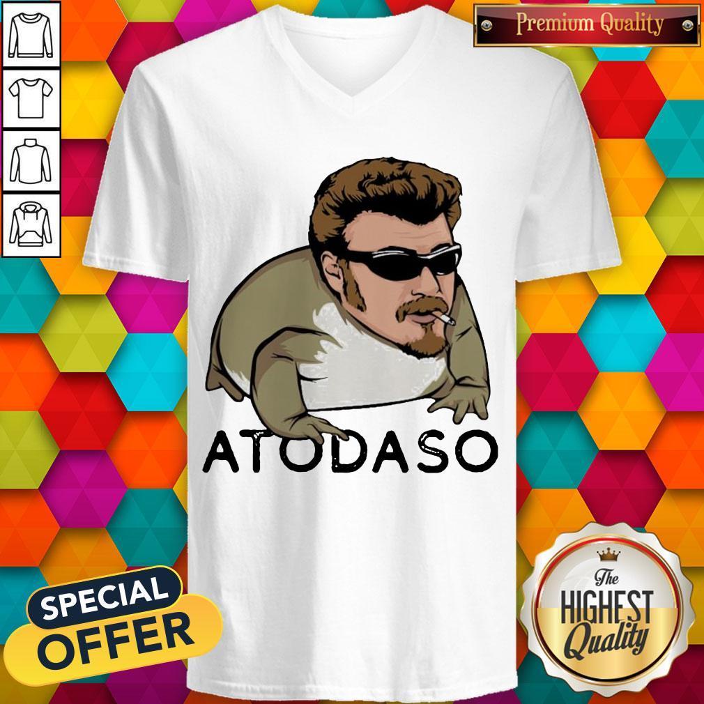 Funny Atodaso Face V- neck