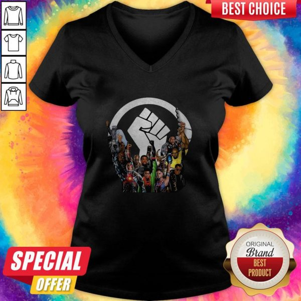 Funny Crew Black Lives Matter V- neck