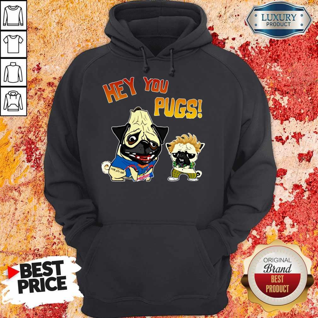 Funny Hey You Pugs Dog Hoodie