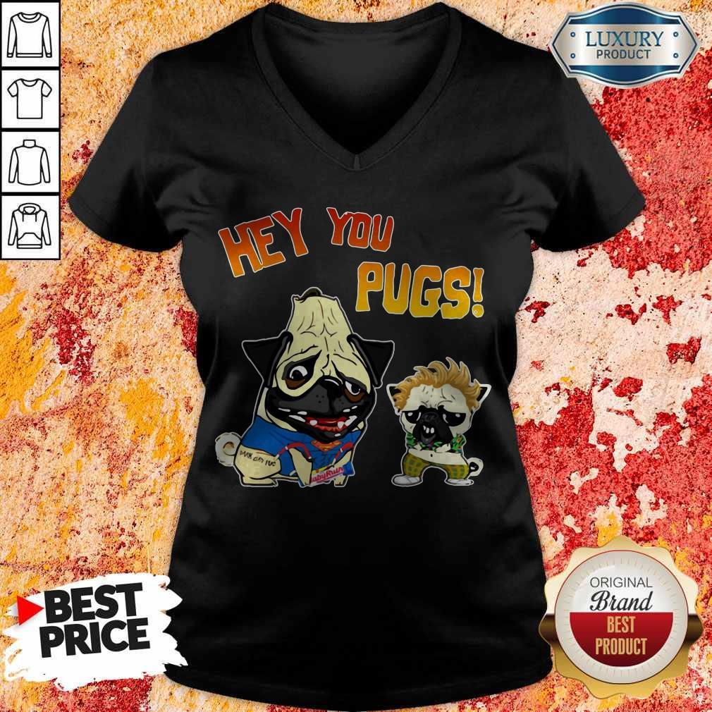 Funny Hey You Pugs Dog V- neck
