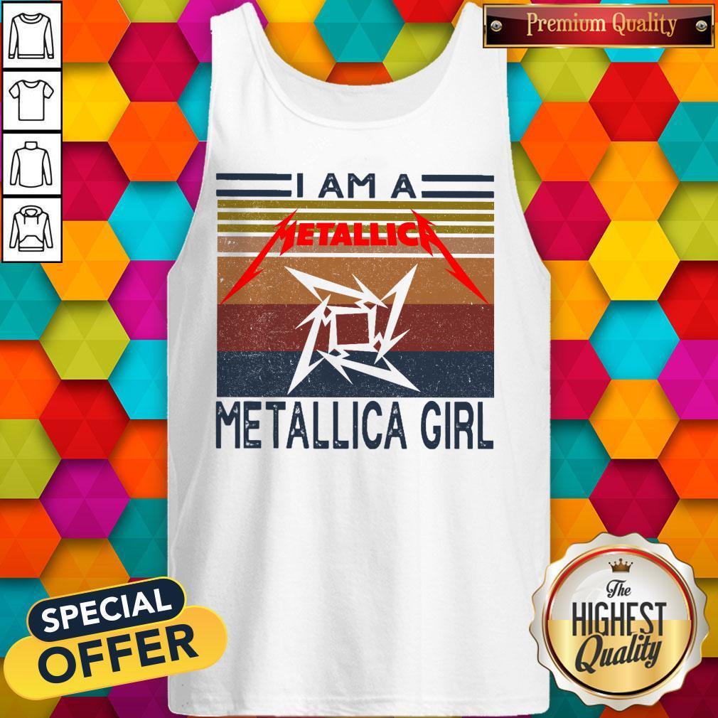 I Am A Metallica Girl Vintage Tank Top