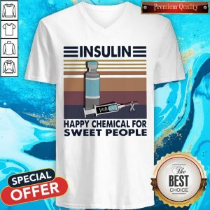 Insulin Happy Chemical For Sweet People Vintage V- neck