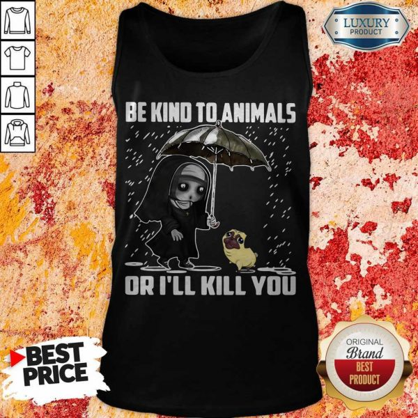John Wick Be Kind To Animals Or I'll Kill You Tank Top