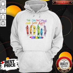LGBT The Day The Crayons Made Some Art Hoodiea