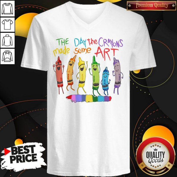 LGBT The Day The Crayons Made Some Art V- neck
