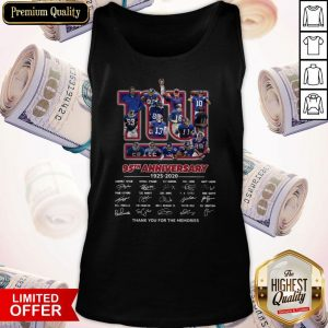 New York Giants 95th Anniversary 1925 2020 Thank You For The Memories Signatures Tank Top