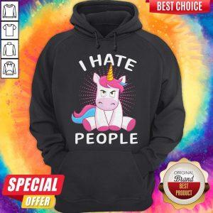 Nice Baby Unicorn I Hate People Hoodiea