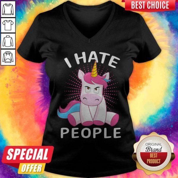 Nice Baby Unicorn I Hate People V- neck
