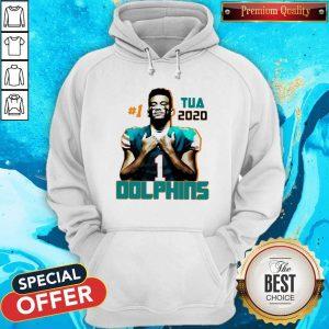 Official 1 Tua Tagovailoa 2020 Miami Dolphins Football Hoodie