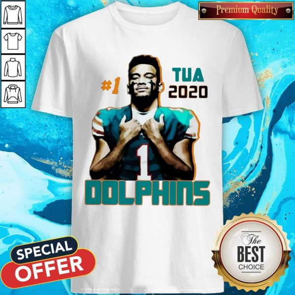 Official 1 Tua Tagovailoa 2020 Miami Dolphins Football Shirt