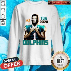 Official 1 Tua Tagovailoa 2020 Miami Dolphins Football Sweatshirt