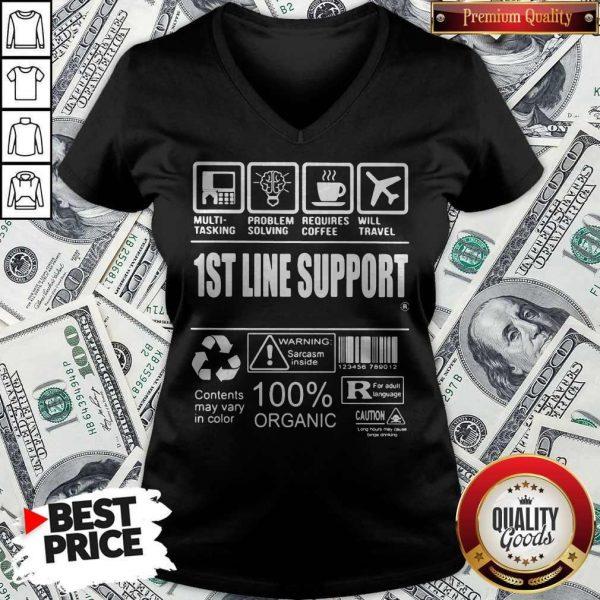 Official 1St Line Support V- neck