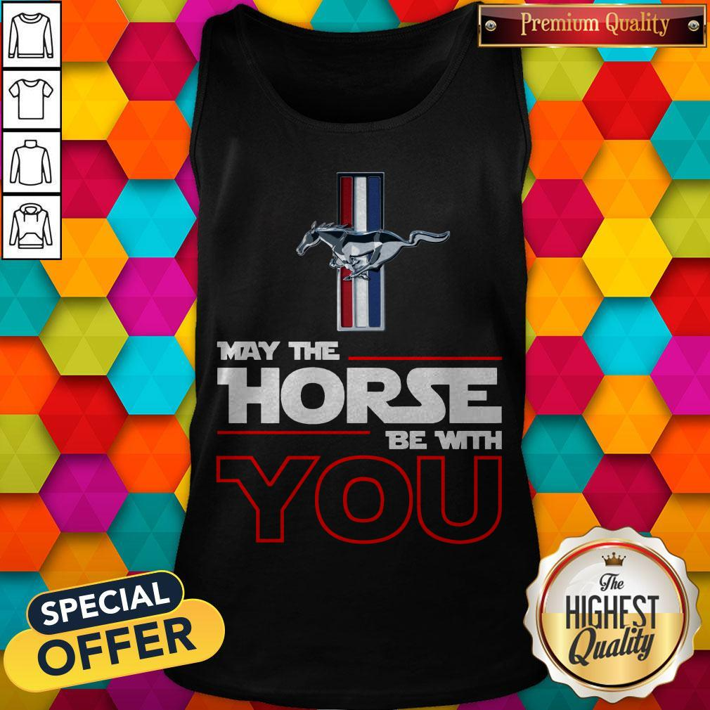 Official Ford Mustang May The Horse Be With You Tank Top