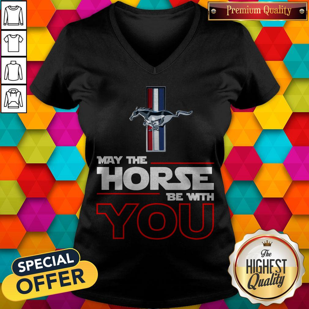 Official Ford Mustang May The Horse Be With You V- neck