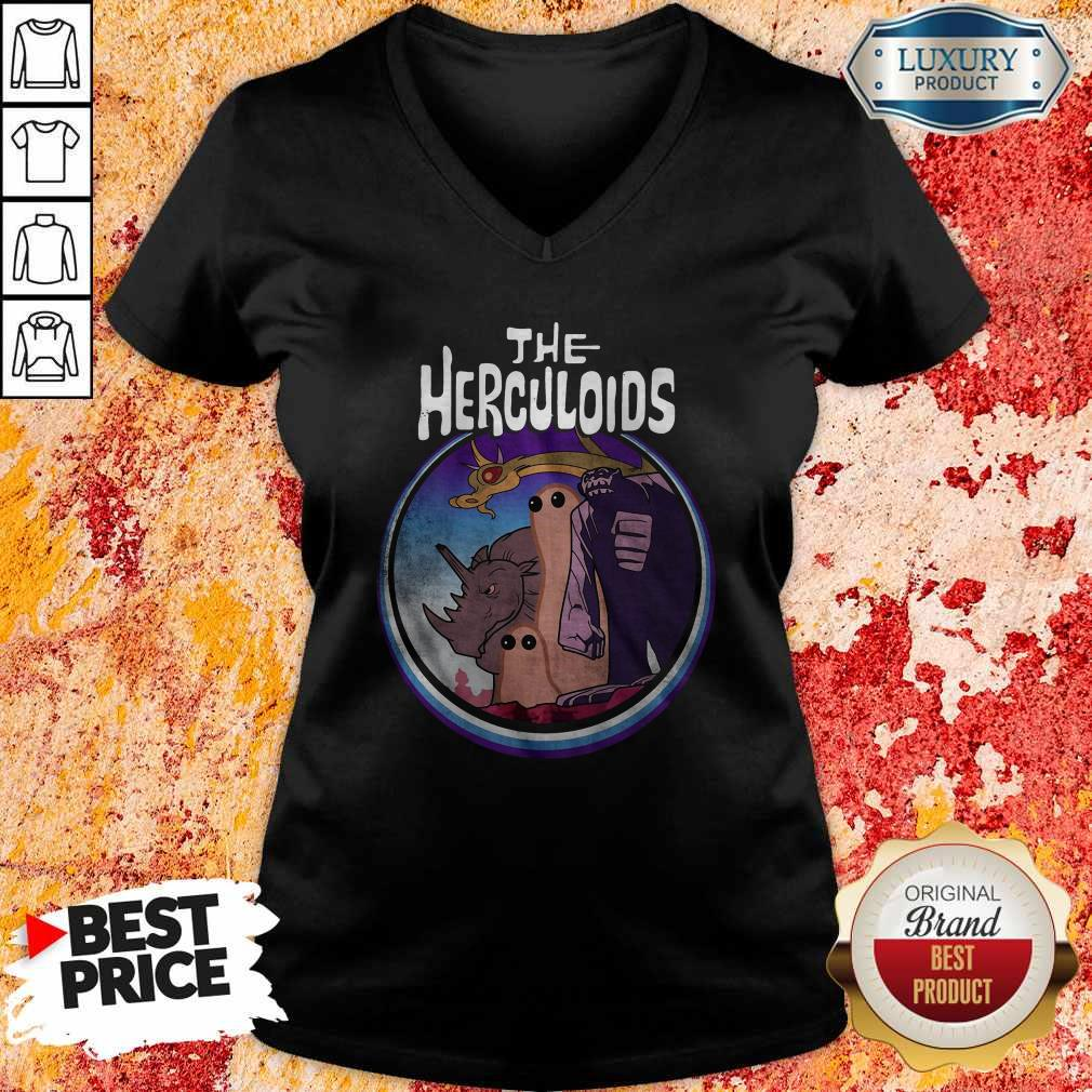 Official The Herculoids Funny V- neck