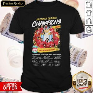 Premier League Champions 2020 You'll Never Walk Alone Players Signatures Shirt