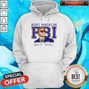 Premium Burt Macklin Fbi Signature Hoodie