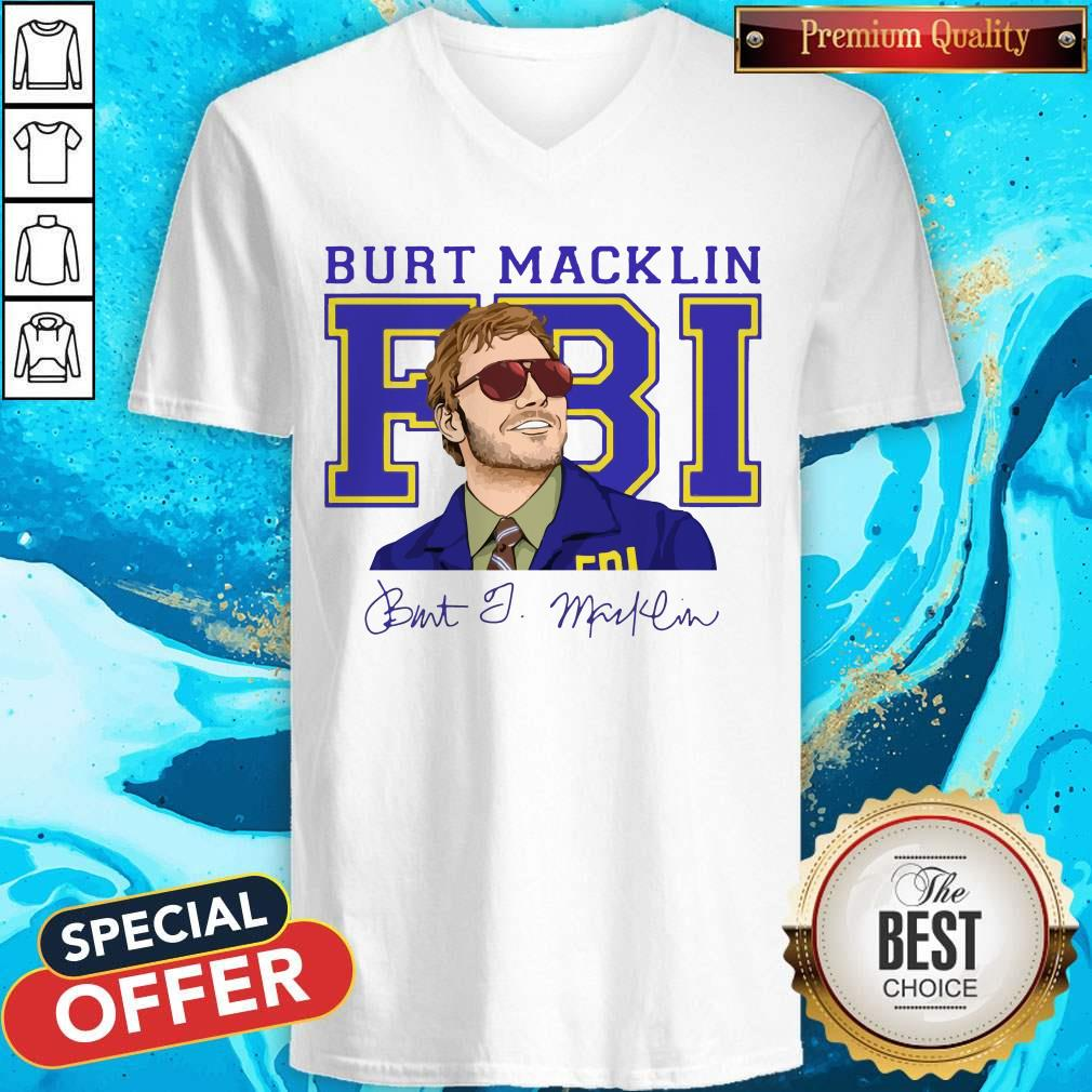 Premium Burt Macklin Fbi Signature V- neck
