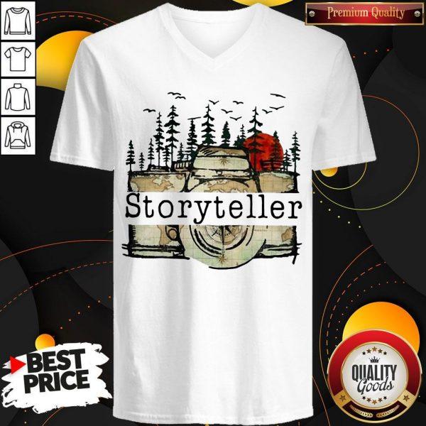 Premium Camera Storyteller Moon V- neck