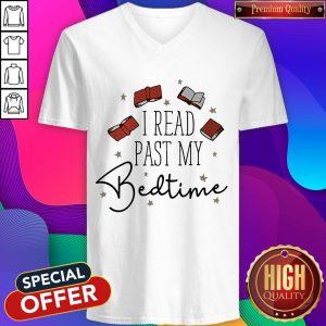 Premium I Read Past My Bedtime V- neck