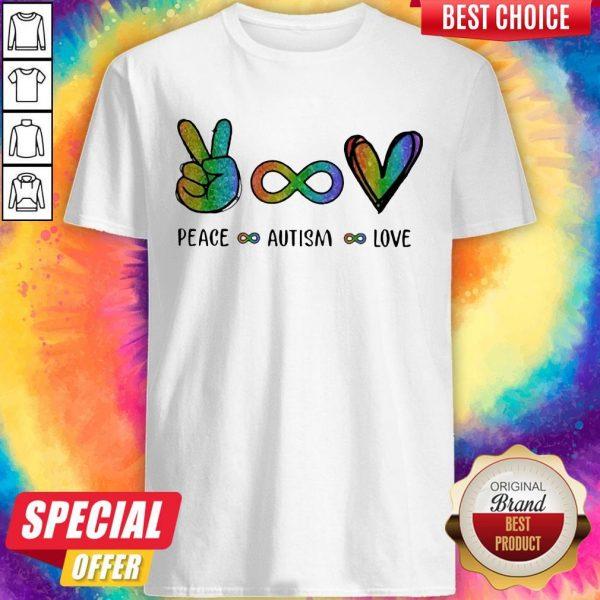 Pretty LGBT Peace Autism Love Diamond Shirt