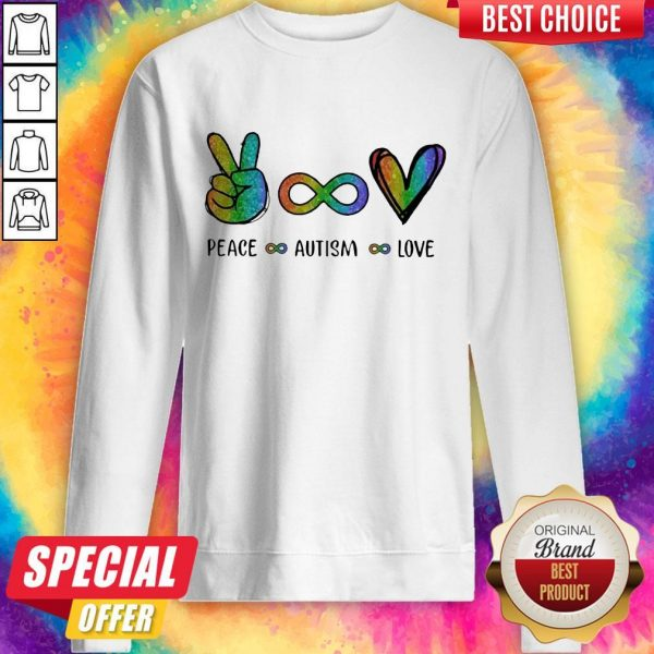 Pretty LGBT Peace Autism Love Diamond Sweatshirt