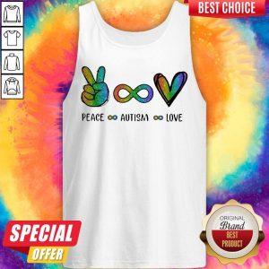 Pretty LGBT Peace Autism Love Diamond Tank Top