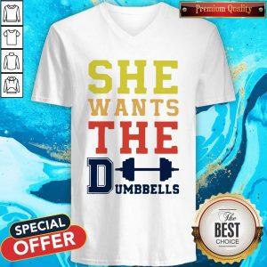 Pretty She Wants The Dumbbells V- neck