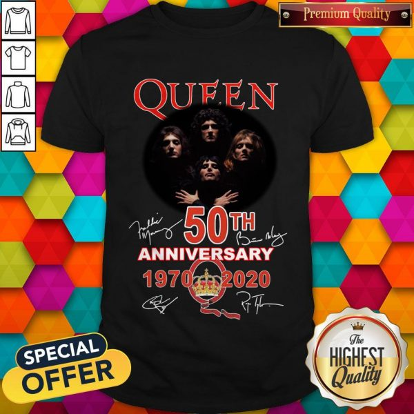 Queen 50th Anniversary 1970 2020 Signatures Shirt