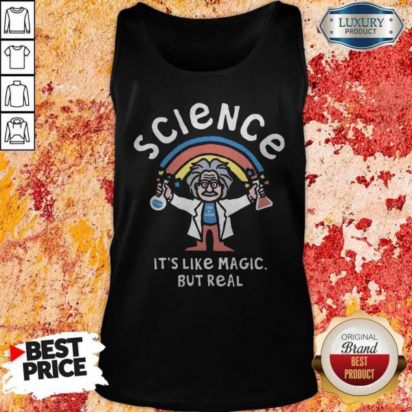 Rainbow Science It's Like Magic But Real Tank Top