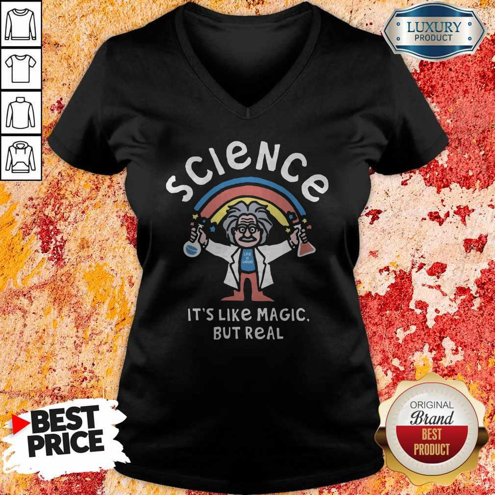 Rainbow Science It's Like Magic But Real V- neck