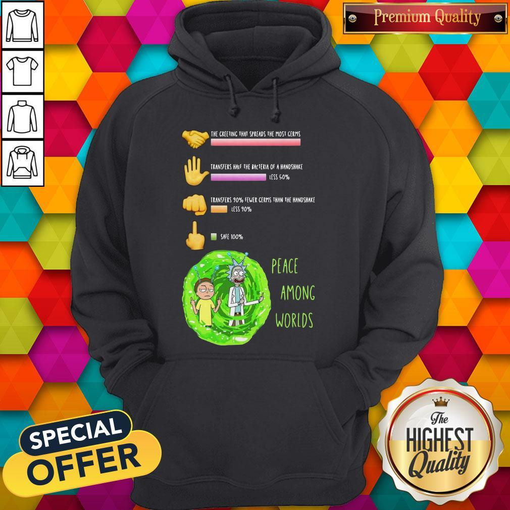 Rick And Morty Peace Among Worlds The Greeting That Spreads The Most Germs Hoodie