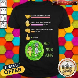 Rick And Morty Peace Among Worlds The Greeting That Spreads The Most Germs Shirt