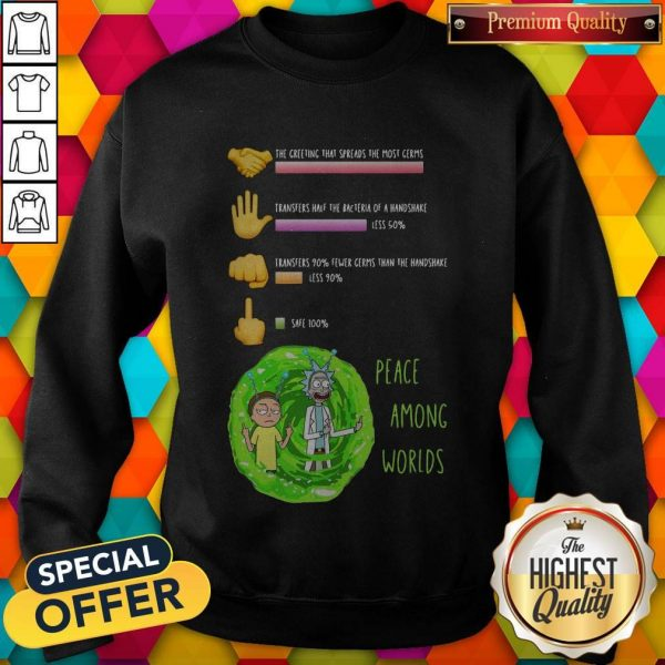 Rick And Morty Peace Among Worlds The Greeting That Spreads The Most Germs Sweatshirt
