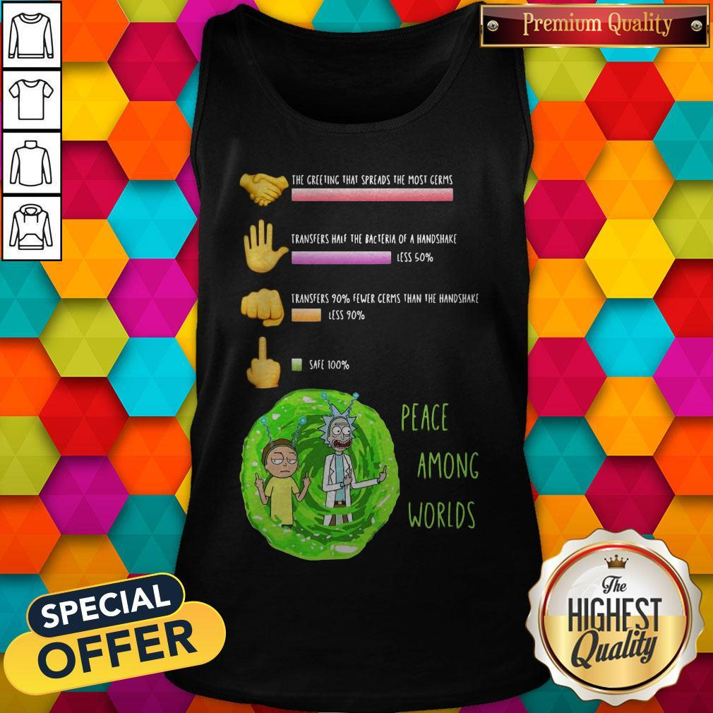 Rick And Morty Peace Among Worlds The Greeting That Spreads The Most Germs Tank Top