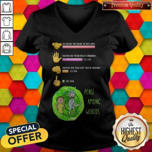 Rick And Morty Peace Among Worlds The Greeting That Spreads The Most Germs V- neck